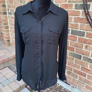 Woman's Macy's INC Blouse w Tie Bottom Sz L.....